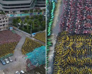 Drone Mostra Milhares De Bicicletas Deixadas Ao Abandono Em Xangai 2