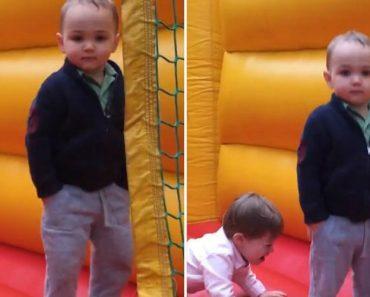 Menino De 2 Anos Mostra Como Se Salta Num Insuflável Com Classe 4