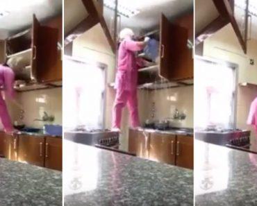 A Limpeza Dos Armários Desta Cozinha é Levada Ao Extremo 9