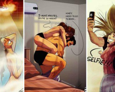 Ilustrador Encontra Forma Divertida De Mostrar Como é o Dia a Dia Com a Esposa 6