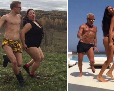 Russos Fazem Paródia Genial De Casal Rico Italiano Que é Conhecido Por Dançar Em Iates De Luxo 5