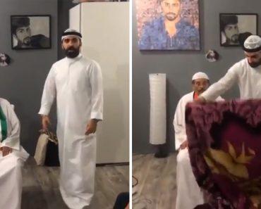 Saudita Cai Na Brincadeira Dos Amigos Ao Pensar Que Ficou Invisível 3
