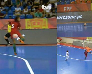 Jogadora Da Seleção Portuguesa De Futsal Marca Golo De Outro Mundo 6
