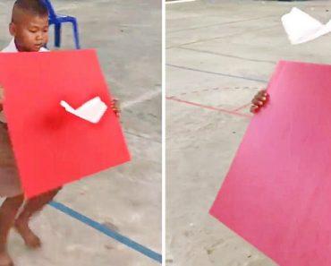 Crianças Mostram Uma Forma Diferente De Fazer Voar Os Aviões De Papel 5