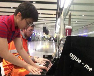 Passageiro Junta-se a Trabalhador Do Aeroporto Para Um Improviso Sensacional 7