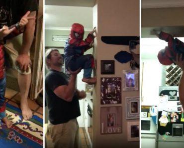 Um Pai Que Sabe Brincar Com o Seu Filho Ao Homem-Aranha 4