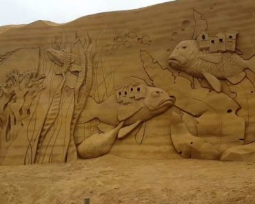 Muitas Horas De Trabalho Foram Necessárias Para Criar Esta Gigantesca Escultura De Areia 5