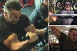 Arnold Schwarzenegger Mostra Que Aos 71 Anos Continua a Treinar Forte 10