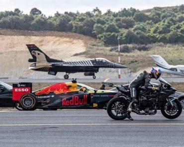 Kawasaki Ninja H2R Vence Um F1 e Um F16 Em Teste De Velocidade 7