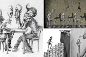 20 Ilustrações Que Retratam Algumas Das Feridas Da Sociedade 9