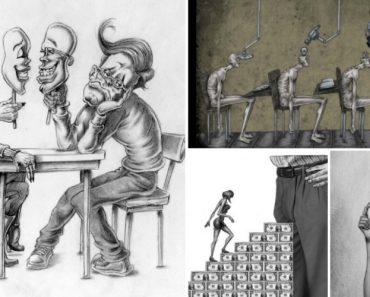 20 Ilustrações Que Retratam Algumas Das Feridas Da Sociedade 11