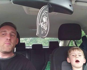 Pai e Filho Fazem Dueto Maravilhoso De Frank Sinatra Durante Viagem De Carro 9