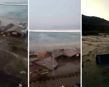 Vídeo Mostra Força De Tsunami Depois De Sismo De 7.5 Na Indonésia 4