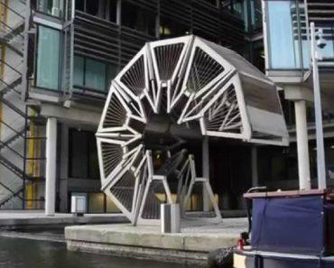 Incrível Obra De Engenharia Permite Que Ponte Se Enrole Transformando-se Numa Bonita Escultura 8