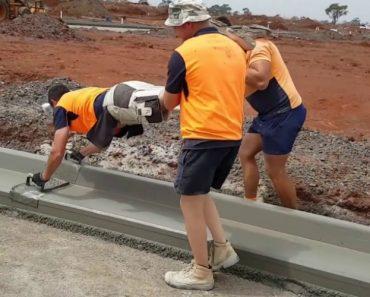 Trabalhadores Australianos Mostram a Forma Mais Divertida De Alisar Cimento 7