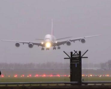 Maior Avião Comercial Do Mundo: Airbus A380 Da Emirates Faz Aterragem Impressionante Na Holanda 4