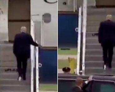 Donald Trump Apanhado Com Papel Higiénico Colado Ao Sapato 4