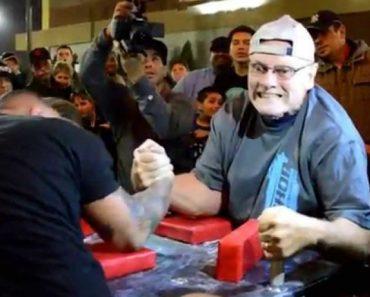 Homem De 70 Anos Vence Braço De Ferro a Oponente Com Quase Metade Da Sua Idade 8