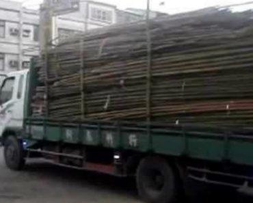 A Maneira Mais Rápida De Descarregar Um Camião... Estilo Tailandês 1