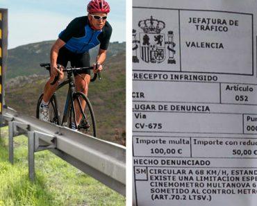 Ciclista é Multado Por Excesso De Velocidade 8
