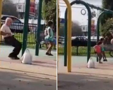Avô Com Espírito De Criança Mostra Quem é o Verdadeiro Mestre Do Baloiço 3
