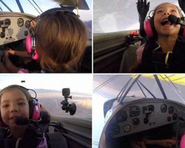 Menina Assume Controlo De Avião e Ainda Faz Acrobacias Na Companhia Do Pai 4
