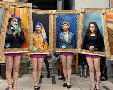 Criativos Estudantes De Artes Fantasiam-se De Quadros Famosos Para o Dia Das Bruxas 8