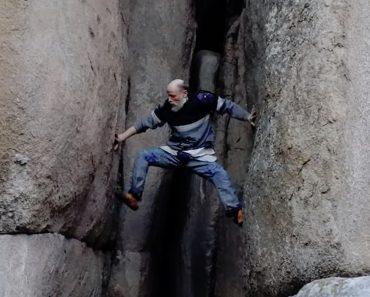 Homem De 70 Anos Sobe Fenda De Montanha Sem Qualquer Equipamento De Segurança 8