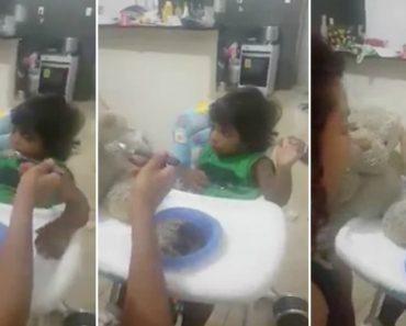 Mãe Usa Técnica Invulgar Para Convencer o Filho a Comer 4