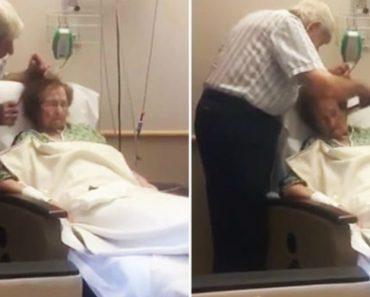 Vídeo Enternecedor Mostra Idoso a Pentear Delicadamente o Cabelo Da Mulher Doente 2
