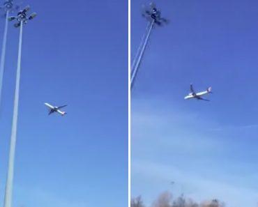 Avião Parece Estar Parado No Ar Enquanto é Filmado Por Um Automobilista 4