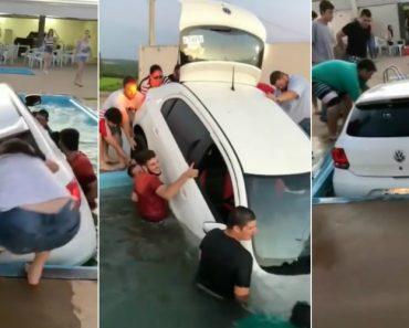 Festa e Churrasco Entre Amigos Termina Com Carro Dentro Da Piscina 4