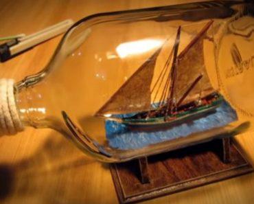Artesão Filma Todo o Processo De Criação De Barco Dentro De Uma Garrafa 4