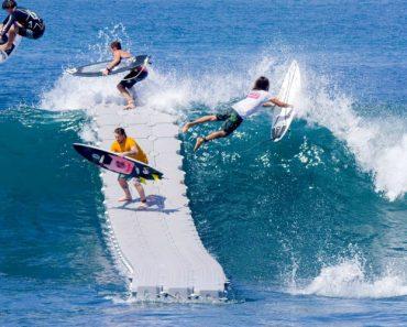 Surfistas Têm Alucinante Experiência Com Doca Flutuante 5