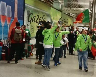 Seleção Portuguesa Campeã De Futsal Com Síndrome De Down Recebida Em Clima De Euforia 3