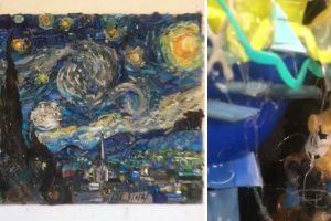 Artista Cria Fantástica Ilusão De Ótica Através De Vários Objetos Para Reproduzir Famosa Obra De Van Gogh 10