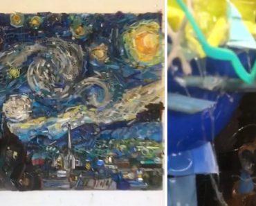 Artista Cria Fantástica Ilusão De Ótica Através De Vários Objetos Para Reproduzir Famosa Obra De Van Gogh 1