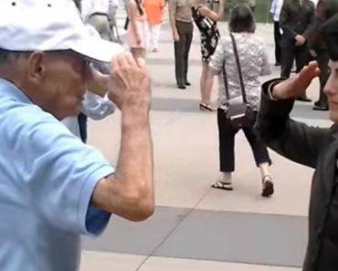 Veterano Faz Continência à Neta, Oficial Da Marinha, Em Vídeo Emocionante 1