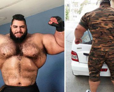"""""""Hulk Iraniano"""" Surpreende a Internet Com o Seu Enorme Físico 9"""