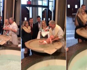 Padre Deixa Bebé Cair Na Pia Batismal Durante o Batismo 1