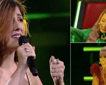"""Diana Castro canta e encanta com a música """"Ouvi Dizer"""" no The Voice Portugal 3"""