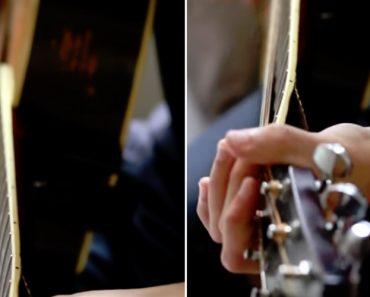 Músico Mostra a Peculiar Sonoridade Da Sua Guitarra Partida 4