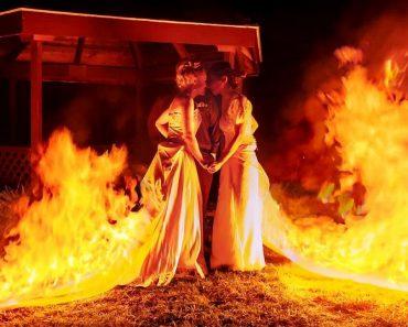 Estas Noivas Decidiram Tornar o Seu Casamento Fogoso... Literalmente! 4