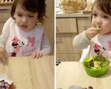 Menina Recusa Todos Os Chocolates Mas Não Resiste Ao Sabor Dos Brócolos 4