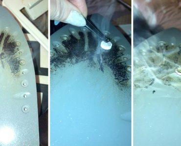 Mãe Mostra o Seu Truque Caseiro Para Limpar Ferro De Engomar 2