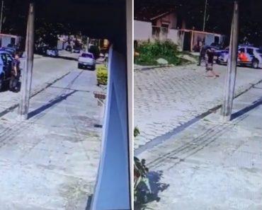 Suspeito Aproveita Momento De Distração Dos Polícias Para Fugir Descaradamente 1