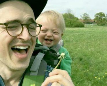 Pai Sopra Uma Flor, a Reação Do Filho... Maravilhosa. 3