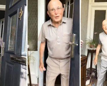 Neta Filma a Reação Do Avô Sempre Que Ela Vai a Sua Casa 3