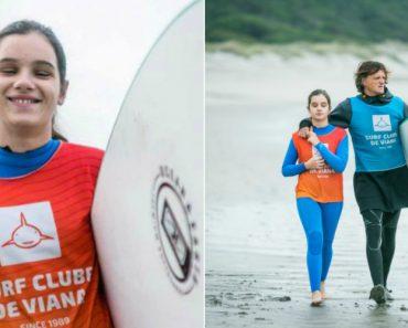 Menina Portuguesa Cega Conquista Bronze No Mundial De Surf Na Califórnia 7
