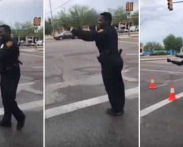 Polícia Controla o Trânsito Ao Ritmo Da Dança 8